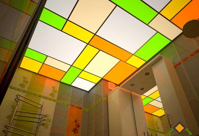Потолок из цветного оргстекла