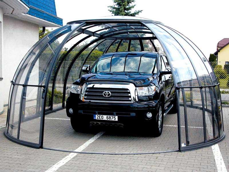 Прозрачный поликарбонат для гаража