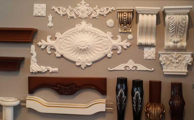 Декор из полиуретана для мебели