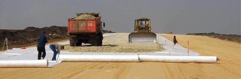 Готекстиль при строительстве дорог