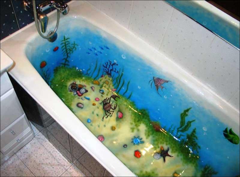 Цветовые решения при реставрации ванн жидким акрилом
