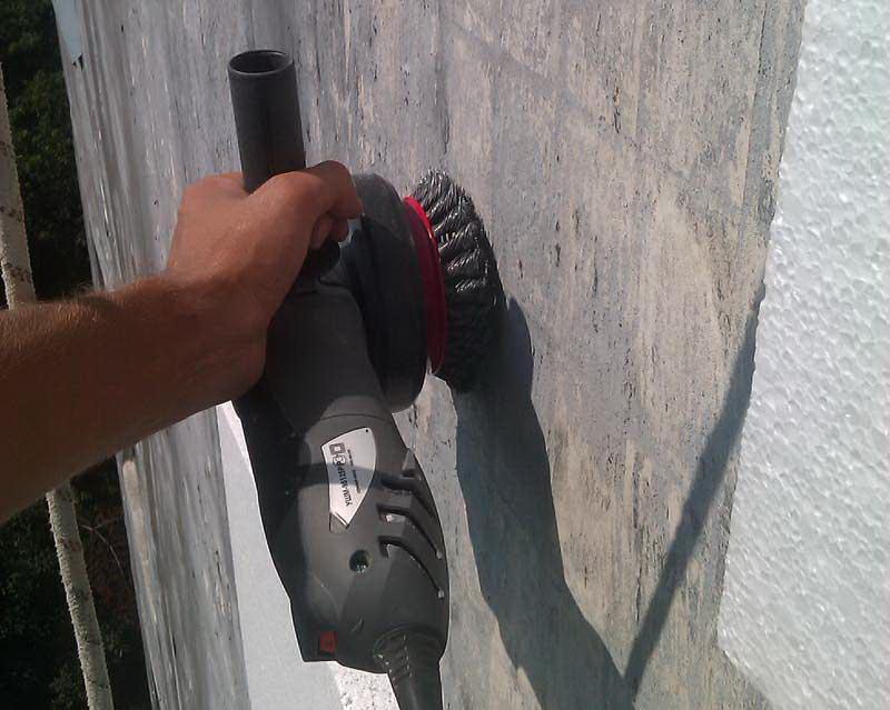 Подготовка стены для утепления  фасада пенополистеролом