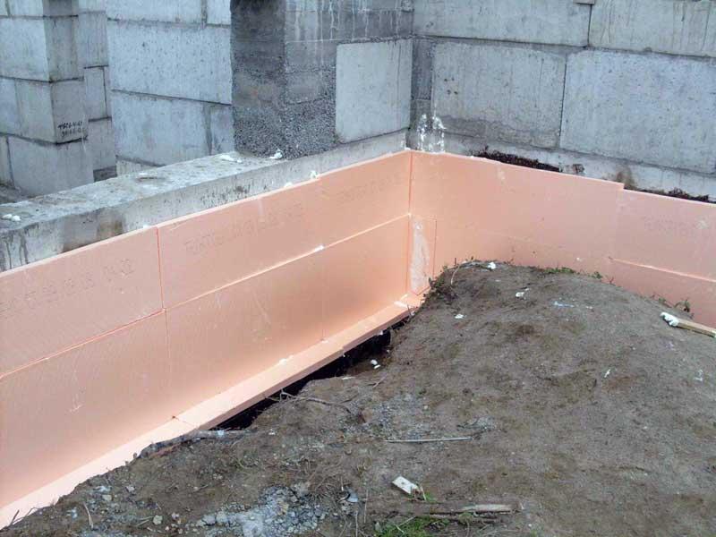 Применение утеплителя для стен Пеноплекс