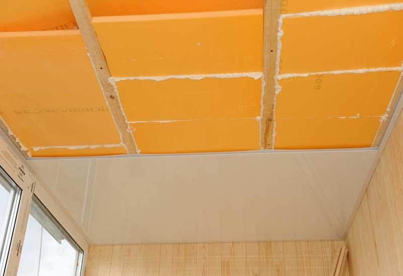 Утепление потолка материалом техноплекс