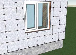 Крепление пеноплекса к стене с помощью клея