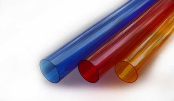 Цветные поликарбнатные трубы