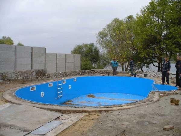 Этапы установки пластикового бассейна