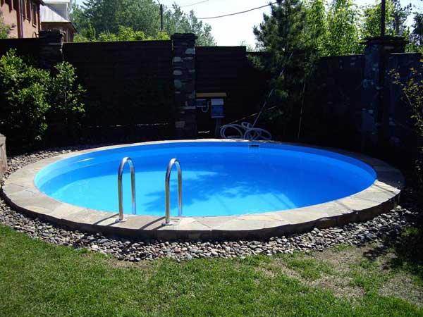 Круглый дачный пластиковый бассейн