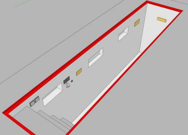 Схема смотровой ямы для гаража