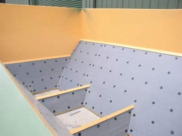 Футеровка поверхностей из бетона