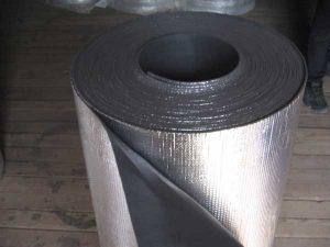 Теплоизоляционный материал изолон с покрытием из фольги