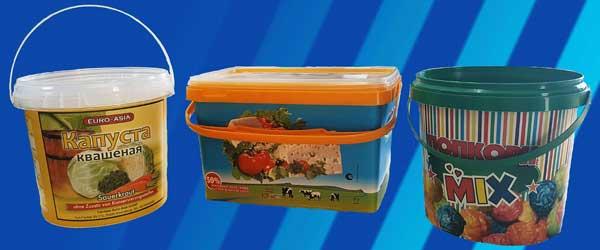 Пластиковые ведра для упаковки
